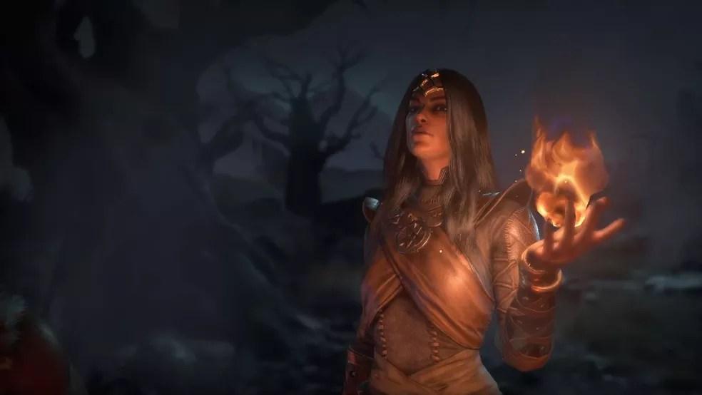Feiticeira é uma das três primeiras classes reveladas de Diablo 4 — Foto: Divulgação/Blizzard Entertainment