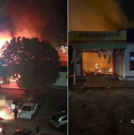 Incêndio ocorreu no Conjunto Manoel Julião — Foto: Reprodução