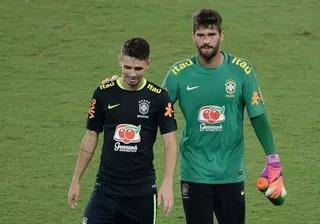Alisson Oscar treino seleção natal (Foto: Pedro Martins / MoWA Press)