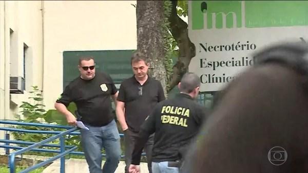 Joesley Batista, dono da JBS, sai do Instituto Médico Legal (IML) após ser preso na Operação Capitu — Foto: Reprodução/TV Globo