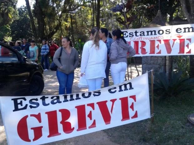Funcionários decretaram estado de greve por falta do pagamento dos salários (Foto: Gualberto Vita/G1)