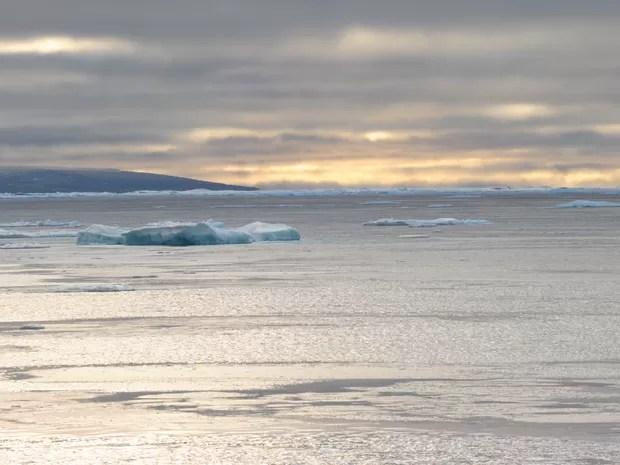 Resultado de imagem para pedaços de gelo flutuando no Ártico