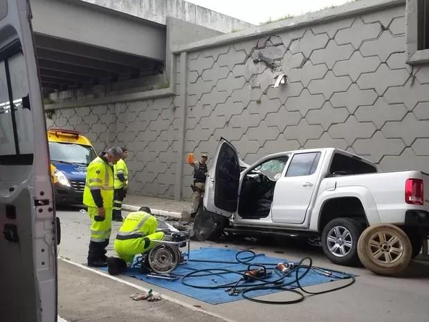 Acidente ocorreu na BR-101, em Palhoça, na Grande Florianópolos (Foto: Arcanjo/Divulgação)