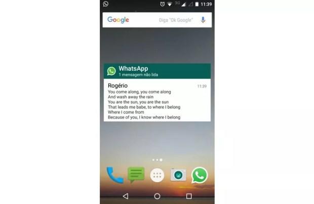 Widget do WhatsApp permite ler mensagens sem abrir o app.