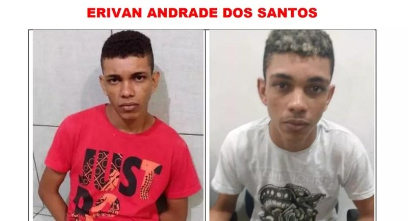 Erivan dos Santos é procurado após fugir de presídio  em RO — Foto: Reprodução