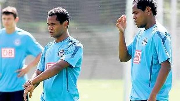 Ronny e Raffael, do Herta (Foto: Divulgação)
