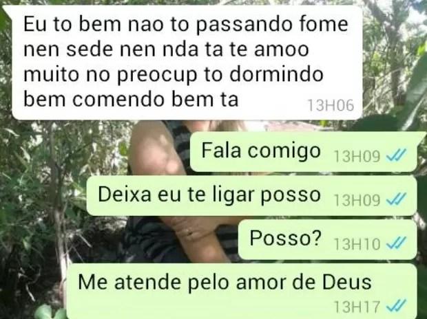 Garoto que fugiu para manter namoro a três manda recado para mãe em Goiás (Foto: Arquivo pessoal)
