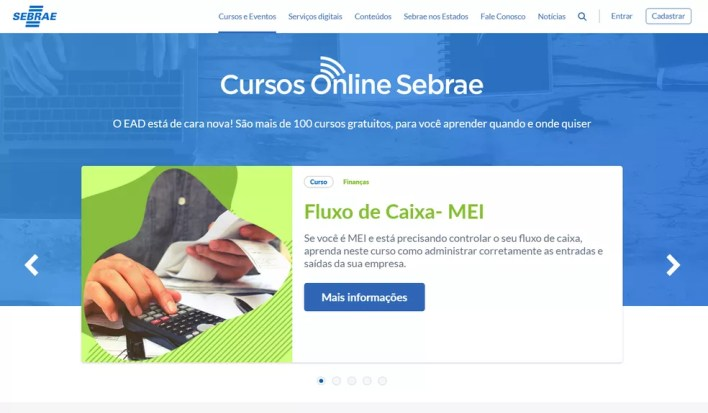 Sebrae oferece mais de 100 cursos para microempreendedores — Foto: Reprodução/Sebrae