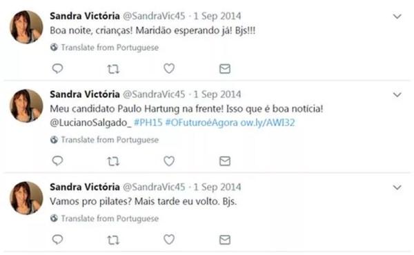 Perfil falso que apoia Paulo Hartung no Twitter usa foto de banco de imagens (Foto: Reprodução, Facebook)