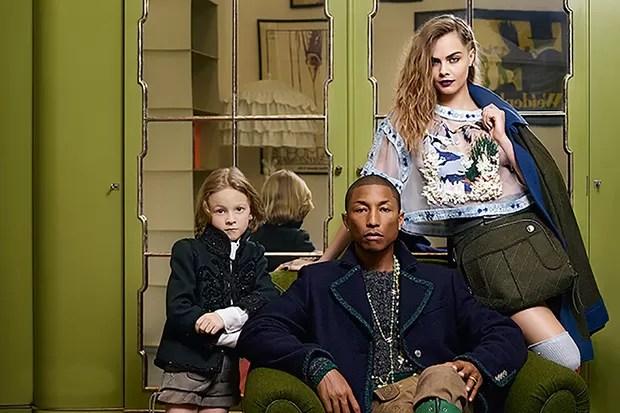 Pharrell e Cara Delevigne em nova campanha da Chanel (Foto: Divulgação)