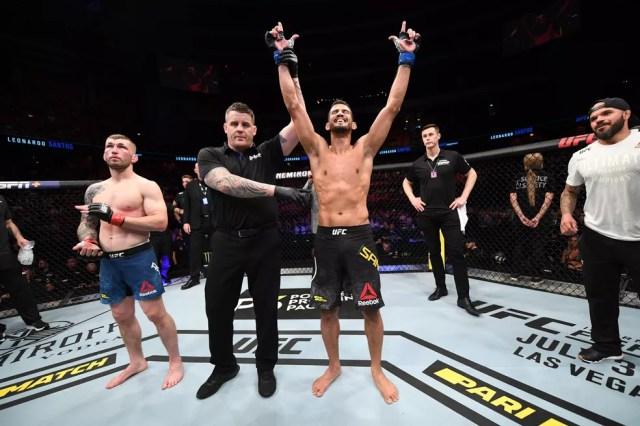 Léo Santos UFC Estocolmo — Foto: Getty Images