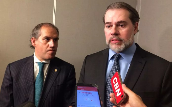 O ministro Dias Toffoli participou de evento em São Paulo nesta sexta-feira — Foto: Tahiane Stochero/G1