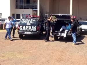 Dois suspeitos de participarem da execução de Paulo Magalhães estão presos no Garras. (Foto: Gustavo Arakaki/G1 MS)