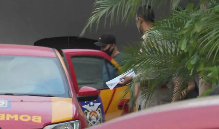 Candidato a vereador de Antonina Argeu da Costa Freire foi preso suspeito de atropelar intencionalmente o secretário municipal de Obras — Foto: Reprodução/RPC