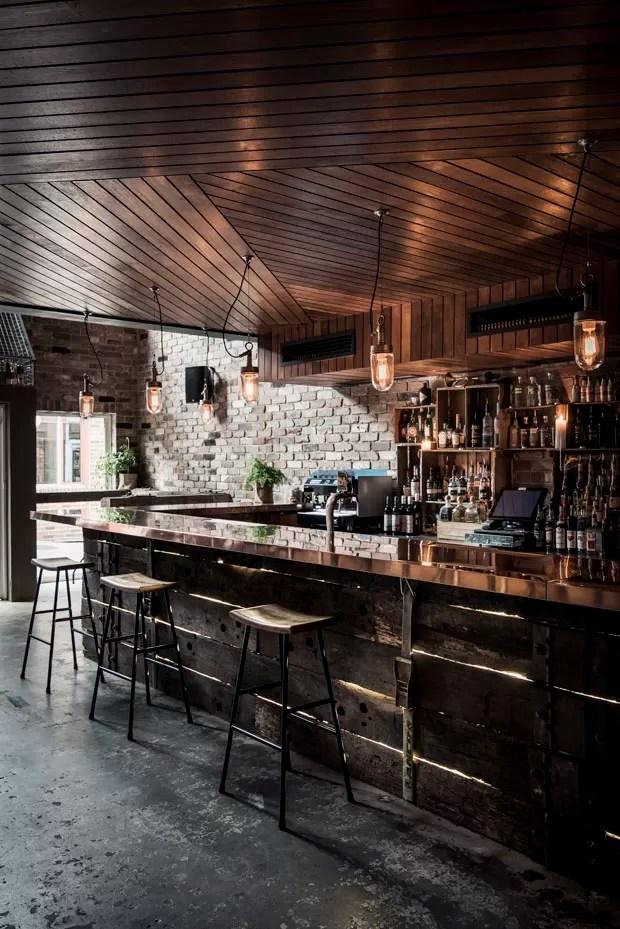 Bar Funde Estilos Rstico E Industrial Casa Vogue
