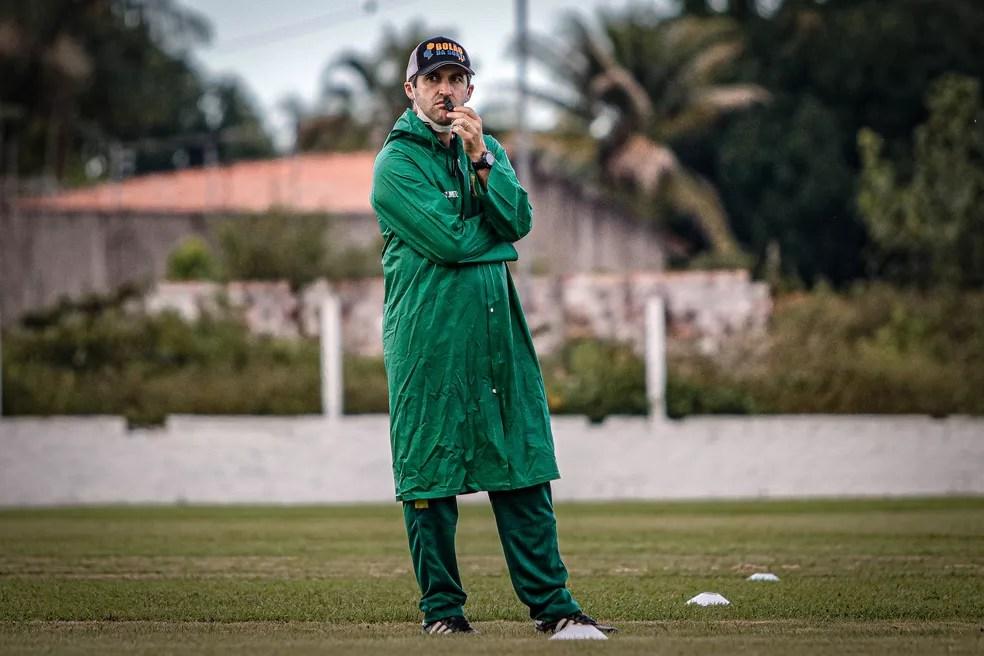 Léo Condé, técnico do Sampaio — Foto: Lucas Almeida/L17 Comunicação