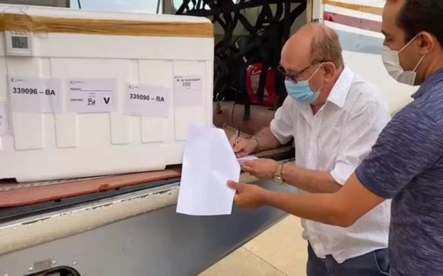 Regional de Saúde de Juazeiro recebeu 3.830 doses da vacina  — Foto: Reprodução/Redes Sociais