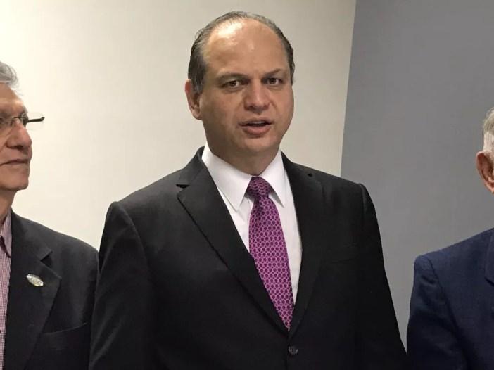 Ministro da Saúde, Ricardo Barros, é citado em delação relacionada à fraudes na construção de escolas no Paraná (Foto: Michelle Farias/G1)