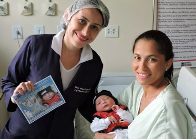 Projeto fotografa recém-nascidos do Hospital Geral de Mamanguape, na Paraíba — Foto: Divulgação/Hospital Geral da Paraíba