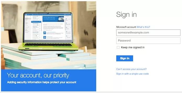 Caso necessário, faça login em sua conta Microsoft (Foto: Reprodução/Helito Bijora)