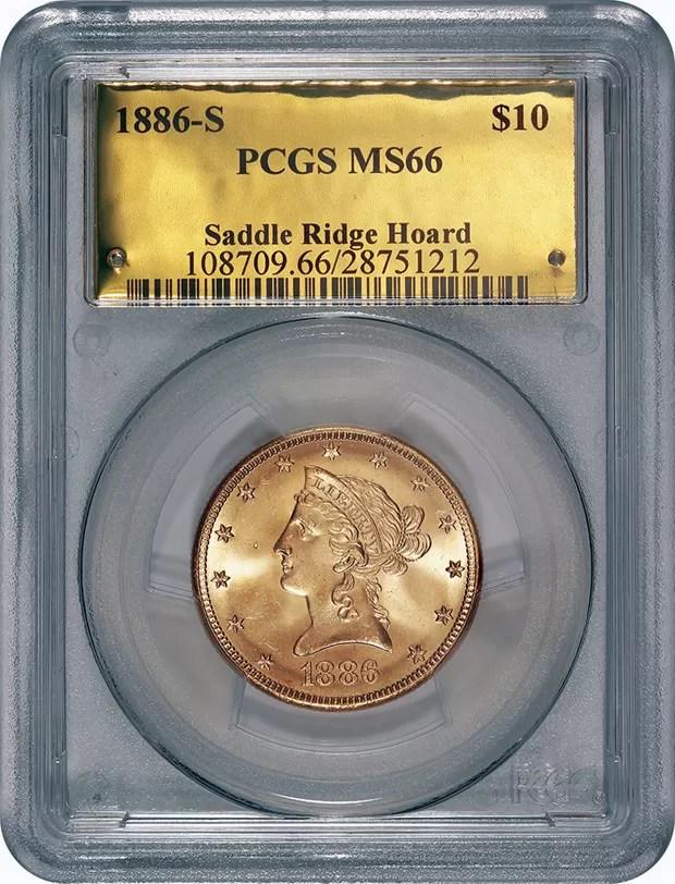 Valor das moedas chega a US$ 10 milhões (Foto: AP Photo/Saddle Ridge Hoard discoverers via Kagin's, Inc)