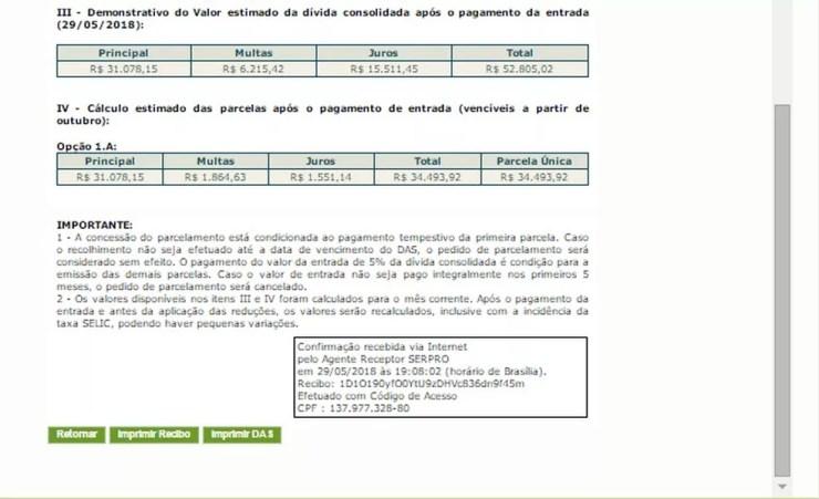 Passo a passo para adesão ao Refis das PMEs (Foto: Divulgação/Receita Federal)