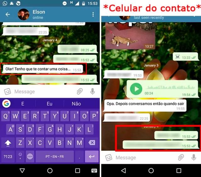 Mensagem desaparecerá no celular do destinatário, mas já poderá ter sido lida (Foto: Reprodução/Elson de Souza)
