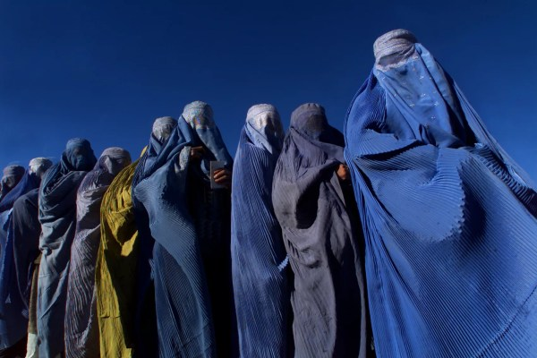 Women in burkas, vest worn by members of the British Special Forces to escape the Taliban (Photo: getty)