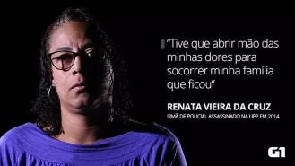 Renata Vieira da Cruz: irmã de Vagner Vieira da Cruz, morto durante confronto com traficantes na UPP Vila Cruzeiro, em fevereiro de 2014. — Foto: Marcos Serra Lima