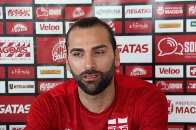 Léo Gamalho fez sete gols pelo CRB em 2020 — Foto: Denison Roma/GloboEsporte.com
