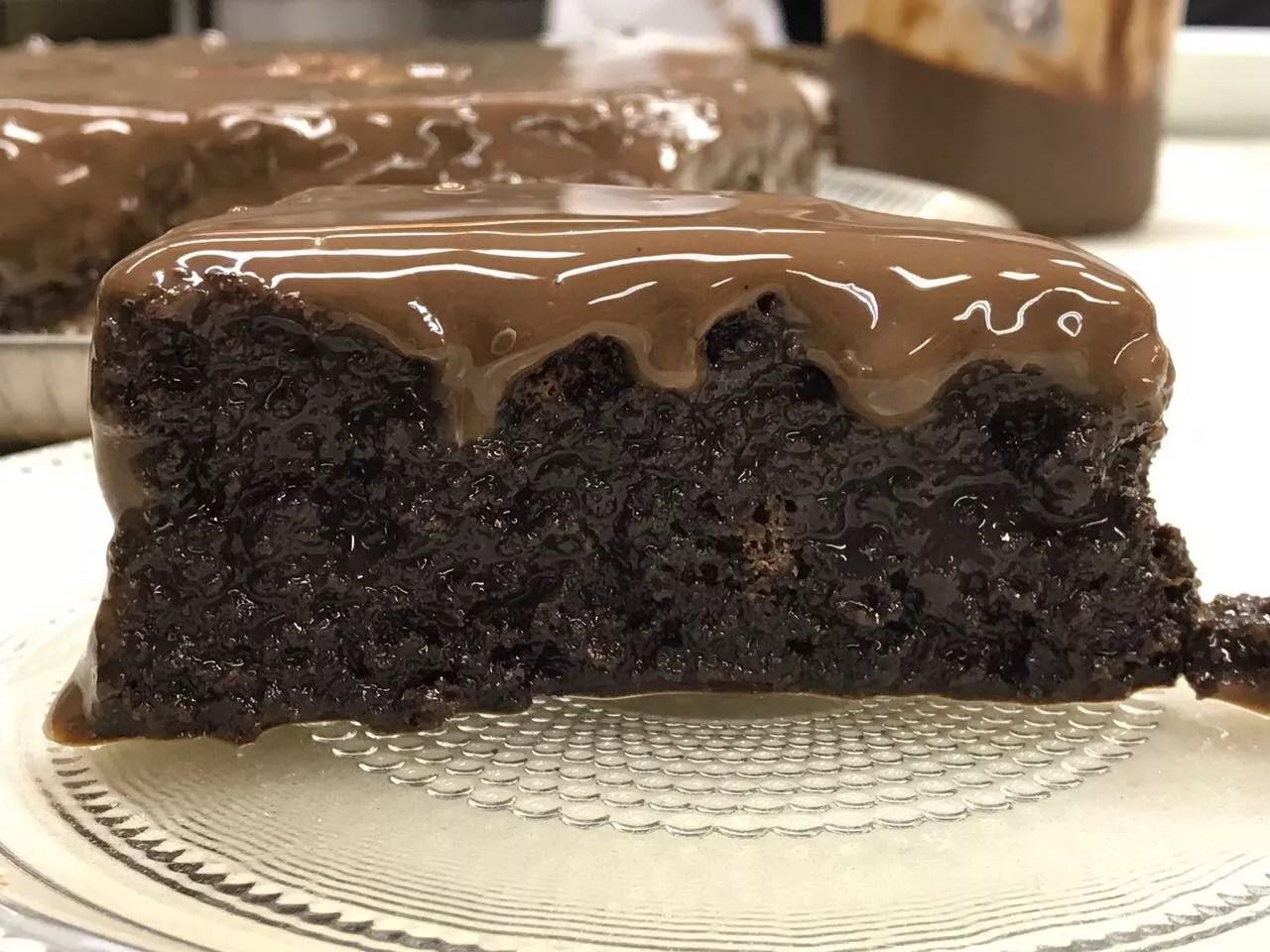 Bolo Molhadinho de Chocolate do 'Mais Você'