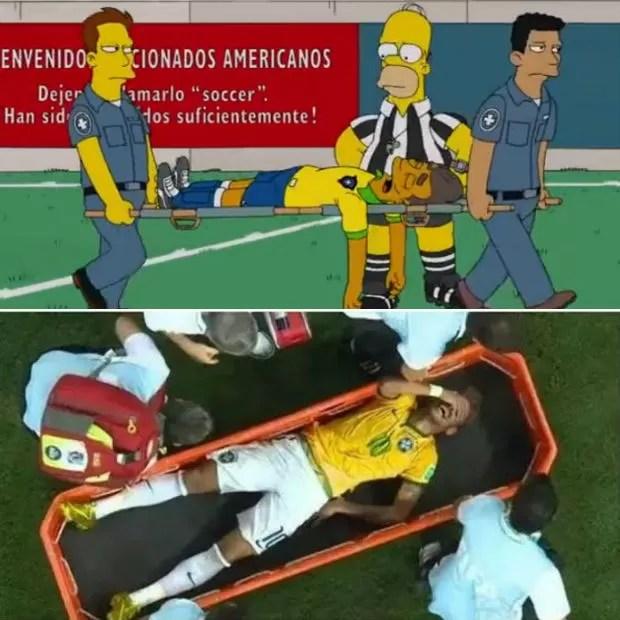 Montagem Neymar Simpsons (Foto: Montagem SporTV.com)