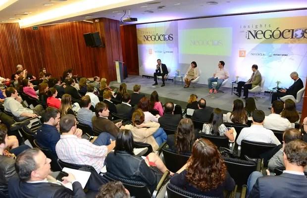 Enéas Pestana, Luiza Helena Trajano, Marcio Kumruian e Mauricio Morgado discutem os caminhos do e-commerce durante o Insights com Época NEGÓCIOS (Foto: Cleiby Trevisan)