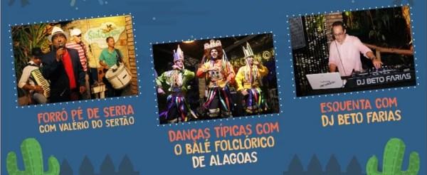 Atrações da Noite Alagoana — Foto: Divulgação