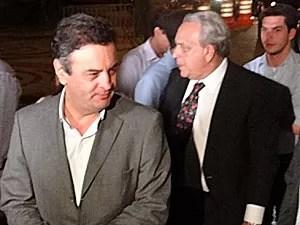 Aécio Neves e Sérgio Guerra (Foto: Katherine Coutinho / G1)