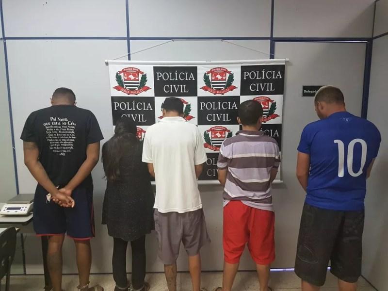 Quadrilha foi levada para a DIG de São José — Foto: Divulgação/DIG