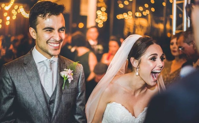 Vira-lata em casamento surpreendeu noivos em Laranjal Paulista (Foto: Arquivo Pessoal/Felipe Paludetto)