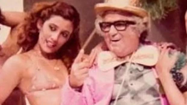 Rita Cadillac e Chacrinha (Foto: Reprodução)