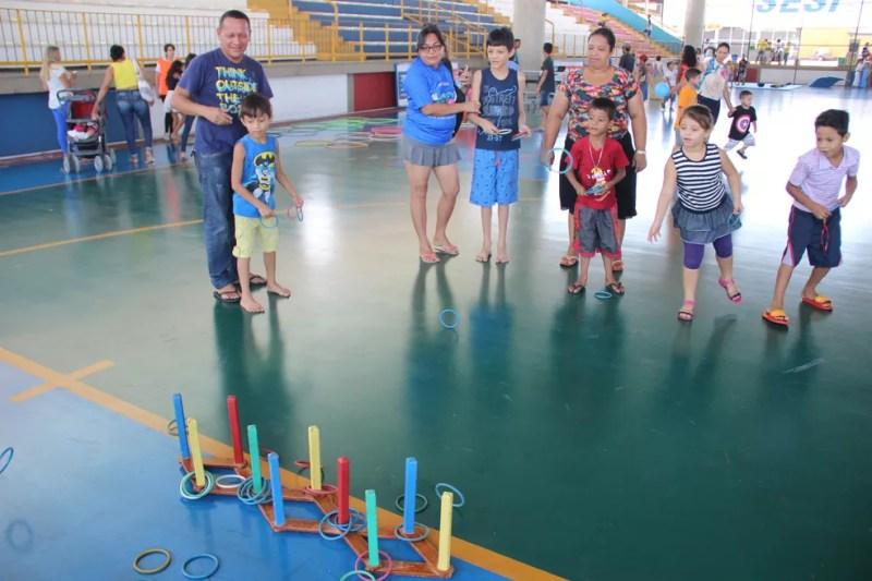 Jogo das argolas (Foto: Matheus Castro/Rede Amazônica)