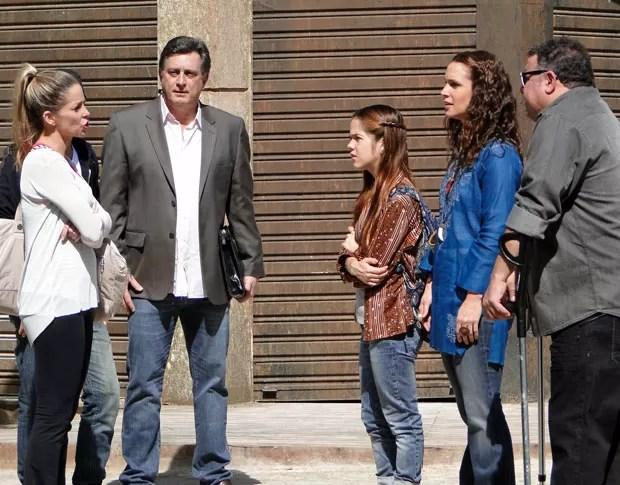 Marcela ficou chateada ao saber das pretensões de Nando (Foto: Malhação / TV Globo)