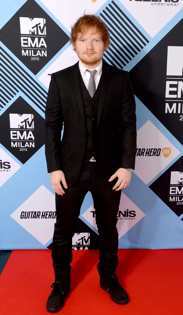 Ed Sheeran no MTV Europe Music Awards 2015 (Foto: Getty Images)