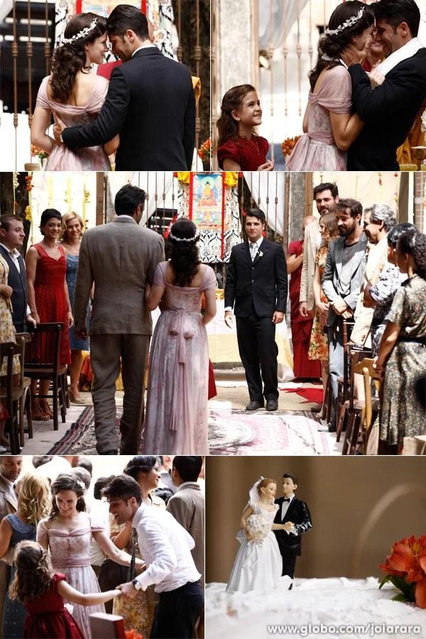 Confira os melhores momentos da cerimônia de Franz e Amélia (Foto: Inácio Moraes/TV Globo)