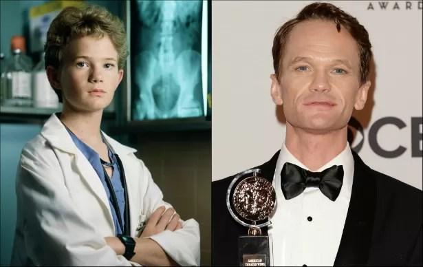 Neil Patrick Harris era adolescente quando protagonizou o seriado 'Tal Pai, Tal Filho' (1989–1993). Ele tem atualmente 41 anos de idade. (Foto: Reprodução e Getty Images)