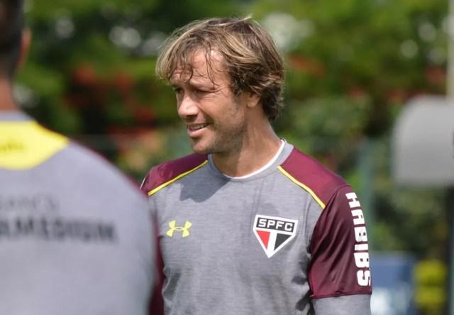 Lugano não sabe se vai continuar no São Paulo (Foto: Érico Leonan/saopaulofc.net)