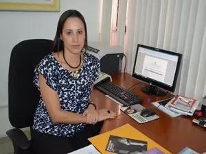 Delegada detalhou prisão de suspeito de estupro (Foto: Flávio Antunes/G1 SE)