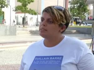 Viúva se mobiliza para conscientizar as pessoas da síndorme de Guillain Barré (Foto: Inter TV/Reprodução)