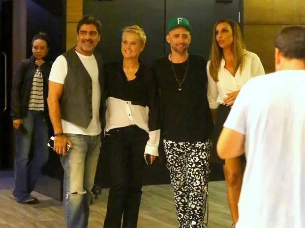 Junno Andrade, Xuxa, Paulo Gustavo e Ivete Sangalo em shopping na Zona Sul do Rio (Foto: Daniel Delmiro/ Ag. News)