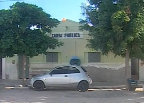Suspeito foi detido na Cadeia Pública de Juazeirinho e está à disposição da justiça — Foto: TV Paraíba/Reprodução