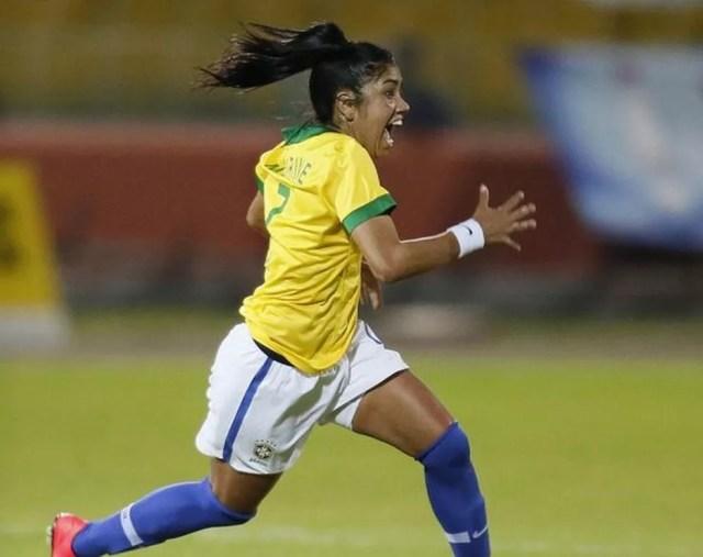 Ex-Flamengo e atualmente no Santos, Maurine defendia a seleção brasileira desde 2008 (Foto: Rafael Ribeiro/CBF)