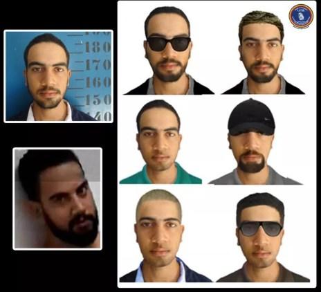 Retrato falado de suspeito de matar dois policiais — Foto: Polícia Civil/Divulgação